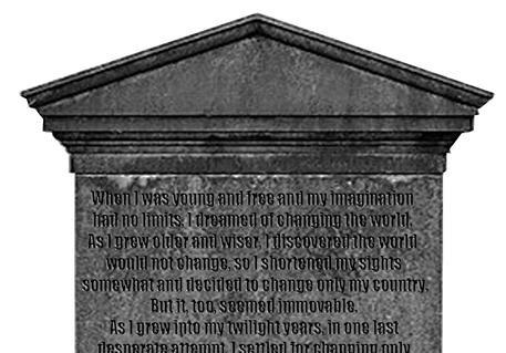 据说伦敦威斯敏斯特大教堂有一块墓碑的碑文震撼人心